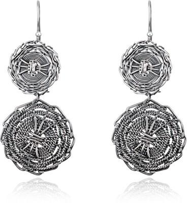 Aarohee Oxidized sparkle Sterling Silver Dangle Earring