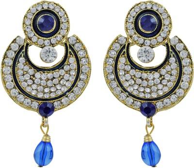 Pankh Polki Design Diamond Studded Brass Chandbali Earring