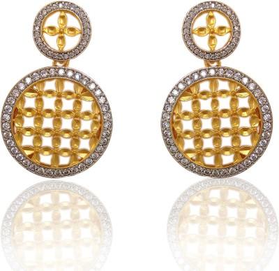 Chandrika Pearls Beautiful Cubic Zirconia Copper Chandbali Earring
