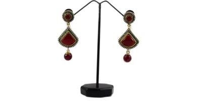 Bharat Sales Party wear cuff in copper Cubic Zirconia Copper Drop Earring