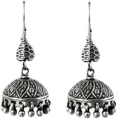 Miska Silver Antique Sterling Silver Jhumki Earring