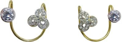 Aakhya EAR16W Diamond Rose Gold Hoop Earring