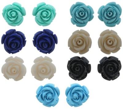 Aabhushan Flower Shape Plastic Earring Set
