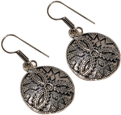 Sanaa Creations Black Oxcide Handcrafted Stylish Earring Alloy Dangle Earring