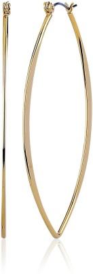 Thingalicious Oval Metal Hoop Earring