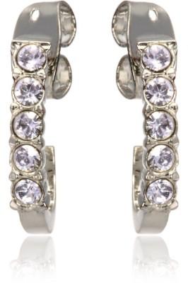 Eclat 1213384R Swarovski Crystal Alloy, Brass Stud Earring