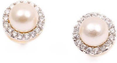 Vanshika Jewels Elegant Pear In AD Alloy Stud Earring