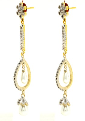 Jewels Kafe American Diamond Cubic Zirconia Alloy Drop Earring