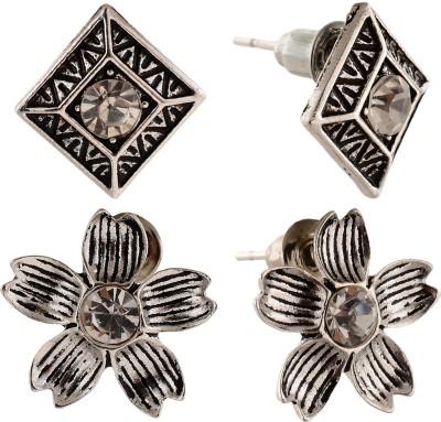 Anokhi Ada Flower and Rhombus Metal Stud Earring