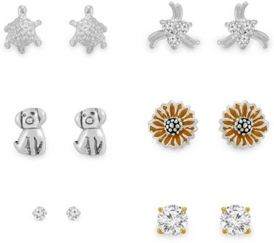 925 Silver Amazing deal of love Cubic Zirconia Silver Stud Earring