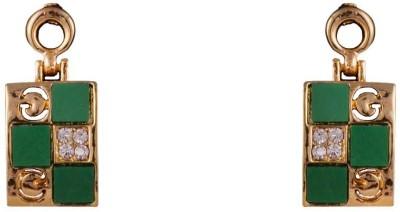 R18Jewels-Fashion&U Gorgeous Sparkle Green Metal Drop Earring