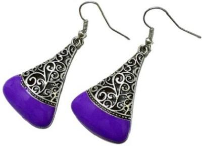 Bling-Bling Purple Triangle Casual Alloy Dangle Earring