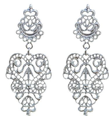 ACW Indo Western Silver Plated Dangle Earrings for Women Alloy Dangle Earring