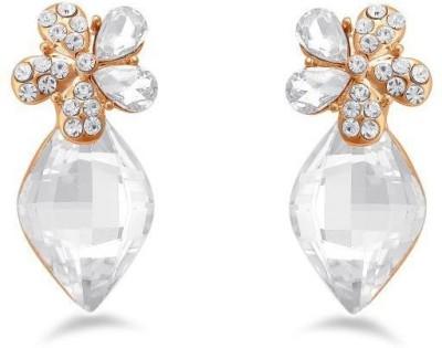 Jazz Jewellery Daily Wear White Stone Drop Earrings For Womens Alloy Drop Earring