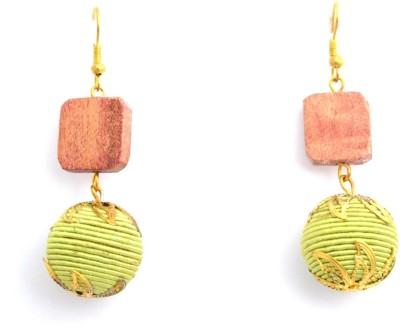 Laron Handicrafts Wood, Metal Dangle Earring