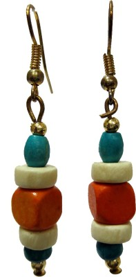 DCS Orange Wood Dangle Earring