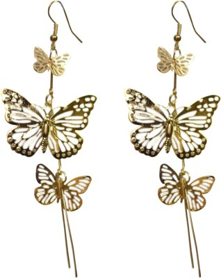 Gracent Golden Butterfly Hangings Alloy Dangle Earring