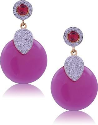 Jewel Planet Fashionable Cubic Zirconia Alloy Drop Earring
