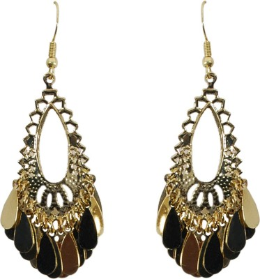 Rhea Teardrop Chandelier Metal Dangle Earring