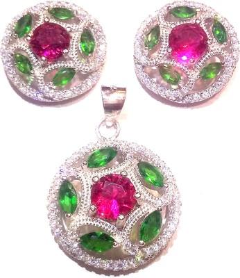 Vummidi Bangaru Chetty & Sons Glittering Stones Sterling Silver Stick-on Earring
