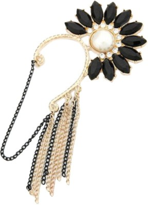 Brandmeup Sunflower Black (Left Ear) Alloy Cuff Earring