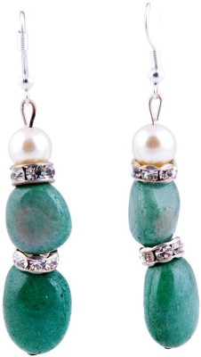 Monisha Daga Double Stone Alloy Drop Earring