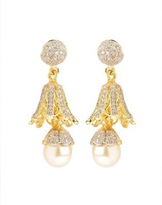 Rays SJM19 Pearl, Zircon Copper Drop Earring
