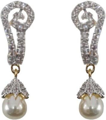 Sheetal Jewellery Cubic Zirconia Cubic Zirconia Brass, Alloy Drop Earring