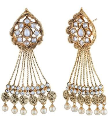 Satyam Jewellery Nx Traditional Earring Copper Drop Earring