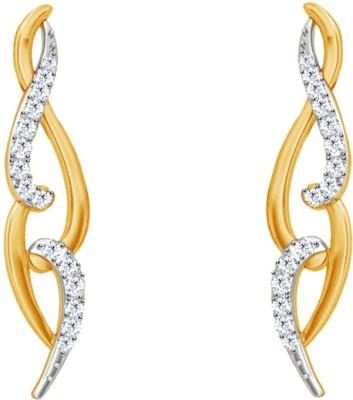 JacknJewel Hanging Enchanting Yellow Gold 18kt Diamond Stud Earring