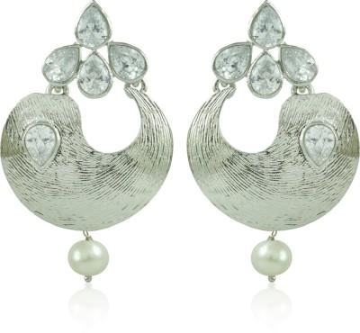 BoBell Electric Silver AD Indian Copper Chandbali Earring