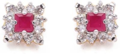 Vanshikajewels Square Shaped Diamonds Studded Alloy Stud Earring
