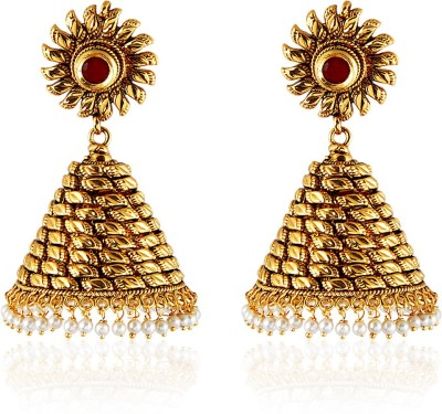Royal Bling GOLDEN DIVA Copper Jhumki Earring