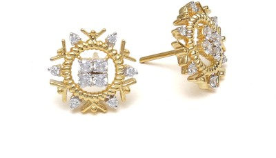 Ansh collection Princess Delight6 Cubic Zirconia Silver Stud Earring