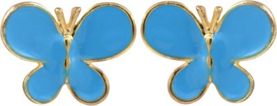 Glitters Online Blue Enamel Imported Fashion Butterfly Shape Toy Alloy Stud Earring
