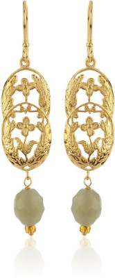 Thingalicious Victorian Flower Motif Alloy Dangle Earring