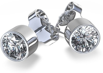 Joyra Exquisite Swarovski Zirconia Sterling Silver Stud Earring