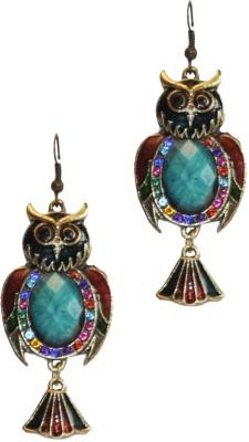 Women Trendz Golden Polish With Stone,Diamonds Metal Drop Earring