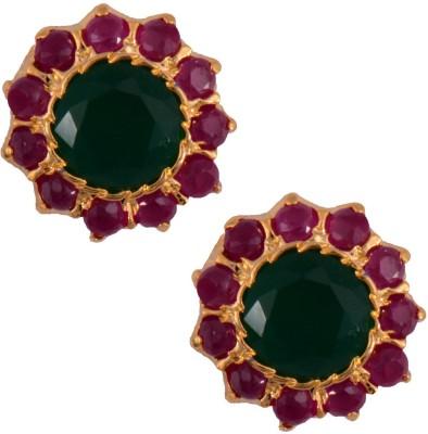 Mahaveer Pearls Exquisite Brass Stud Earring