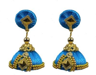 Chrishan thread Alloy Jhumki Earring