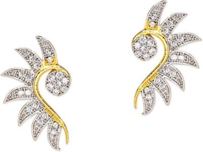 Prita Leaf Shaped American Diamond Alloy Stud Earring