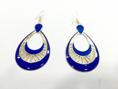 Arkina Diamonds Egyptian blue Brass Dangle Earring