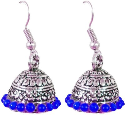 AsiaCraft Blue Traditional Metal Jhumki Earring