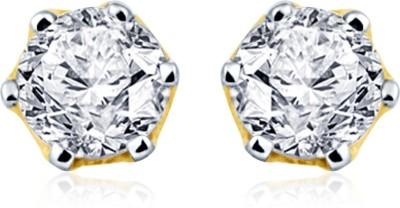 Navvya Cupid Collection Swarovski Crystal Silver Stud Earring