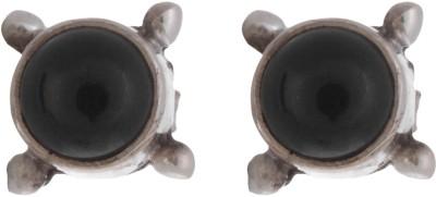 Chandrika Pearls Oxidised 925 Silver Stud Earring
