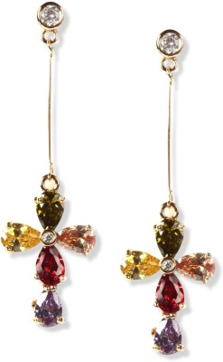 Rubans With Crystal Alloy Drop Earring