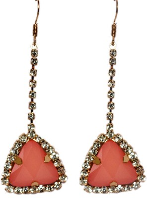 Sparkling Trinkets Pink Alloy Drop Earring