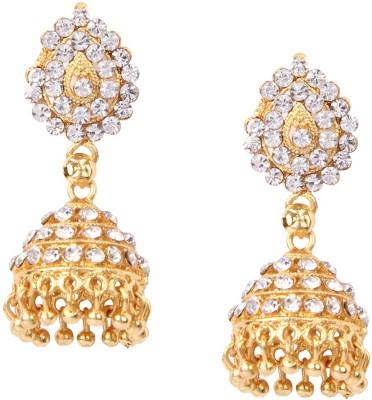 Giftmania Spring Sparkle Crystal Brass Jhumki Earring