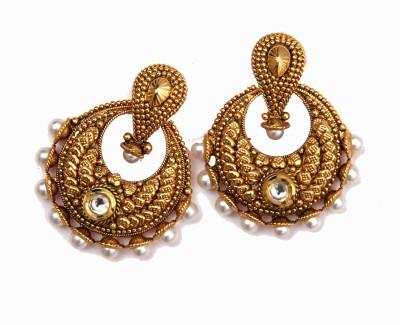 Raajsi Chandbali Pearl Alloy Chandbali Earring