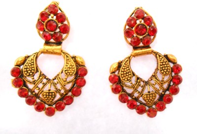 Taj Jewels Sprinking Sparkle Copper Chandbali Earring